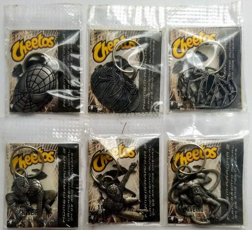 elma chips surpresa kit com 6 chaveiros homem aranha lacrado