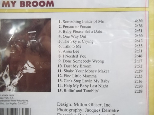 elmore james dust my broom 1991 cd importado novo lacrado
