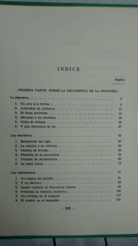 elogio de la retorica - pedro de lorenzo - tapa dura - 1969