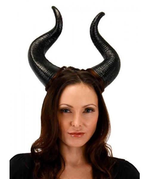 Elope Disney Maleficent Costume Horns Deluxe Para Adultos