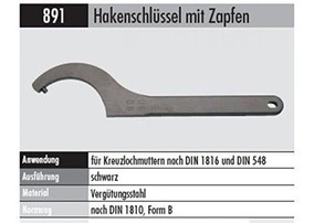 Elora 895027305100 Double open ended spanner DIN 895-27x30mm