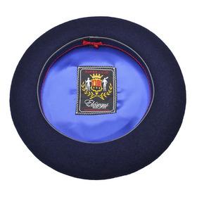 Elosegui Boina De Tolosa Super Lujo Vuelo 314mm Azul