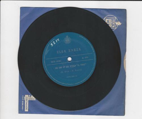 elsa baeza 1974 the end of the world - compacto ep 17