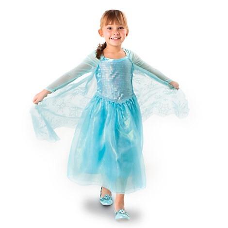 elsa de frozen vestido disfraz clásico disney store 9-10