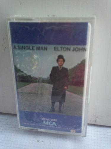 elton john. a single man. cassette.