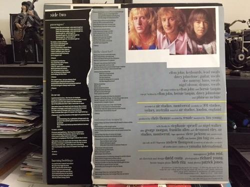 elton john - breaking hearts 1984 lp importado u s a vg++