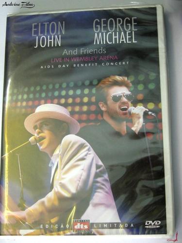 elton john e george michael dvd original novo lacrado
