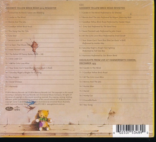 **elton john** goodbye yellow brick road**2cds- ed. 40 anos*