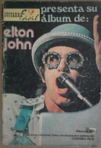 elton john,canciones tablaturas revista guitarra fácil, 92 p
