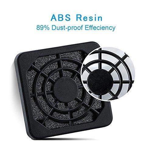 ELUTENG 40mm Fan Filter 2 Pack Dustproof Cover USB Cooling Ventilator Plastic...