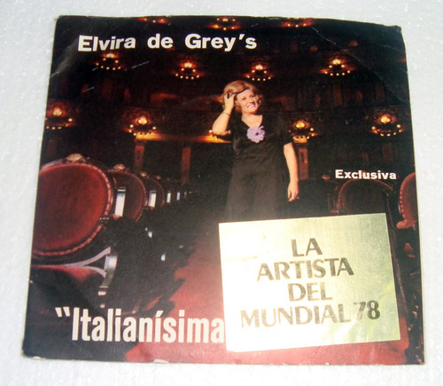 elvira de grey's italianisima mundial 78 simple doble c/tapa