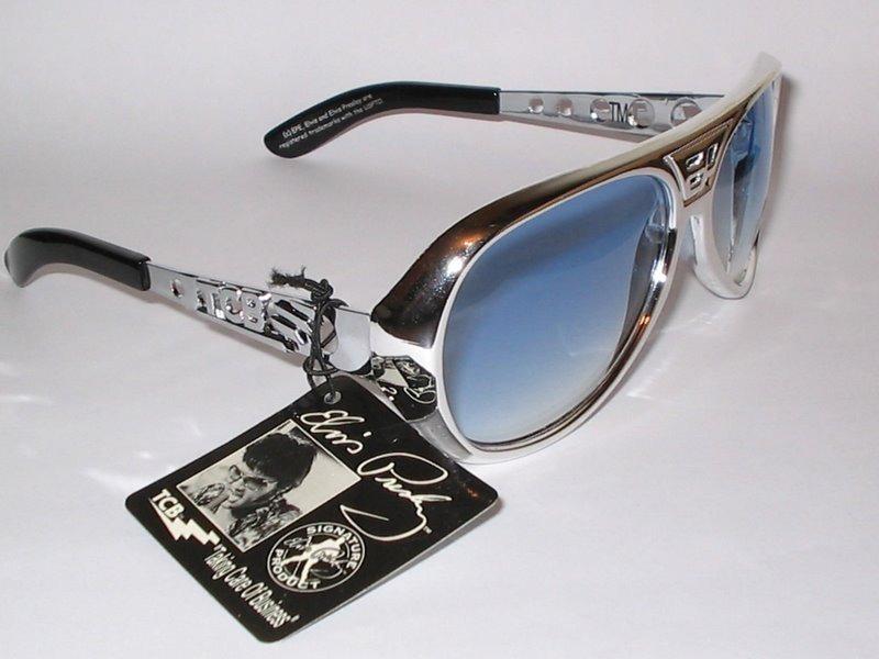 d745a53088823 Elvis Presley  óculos De Sol Com Ep Na Frente E Tcb Ao Lado  - R ...