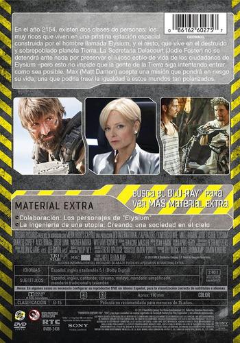 elysium matt damon pelicula dvd