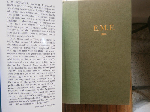e.m. forster a room with a view howard's end maurice ingles