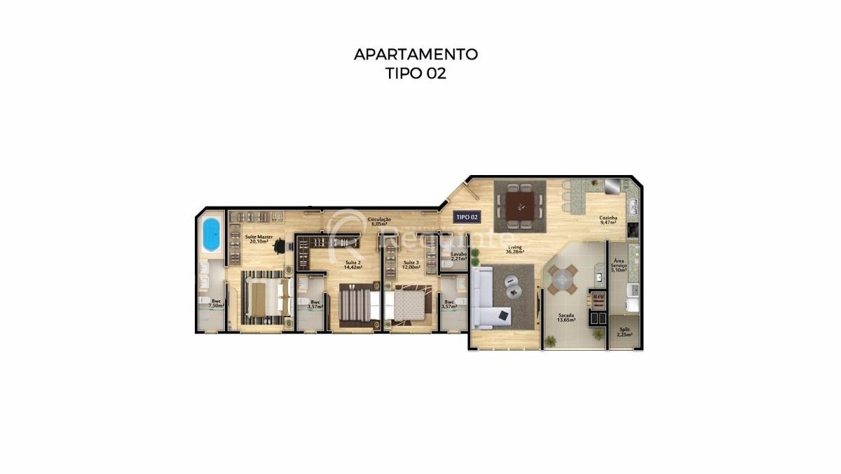 em itapema apartamento com 3 suítes a venda - 284
