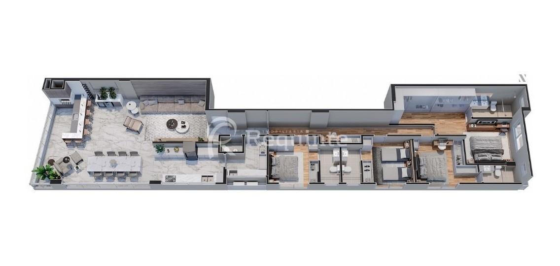 em itapema apartamento com 5 suítes alto padrão - 1605