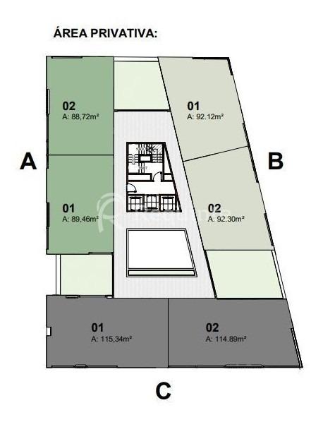 em porto belo apartamento a venda com 2 suítes - 1840