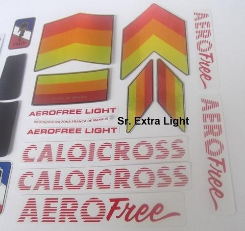 em silk adesivo caloi cross aero free light sr. extra light