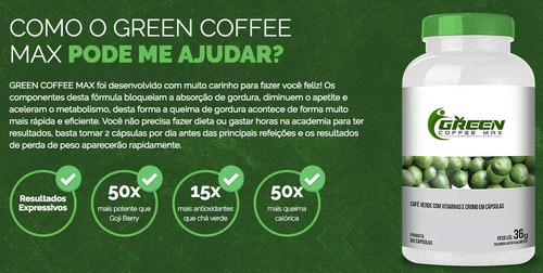 emagreça rápido! - cápsulas de café verde - produto original