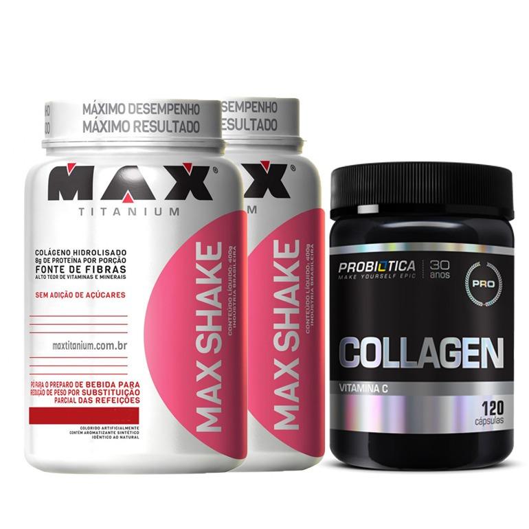a4ef78eec Emagrecer Rapido 2x Shake + Colageno Probiotica 120 Caps - R  139