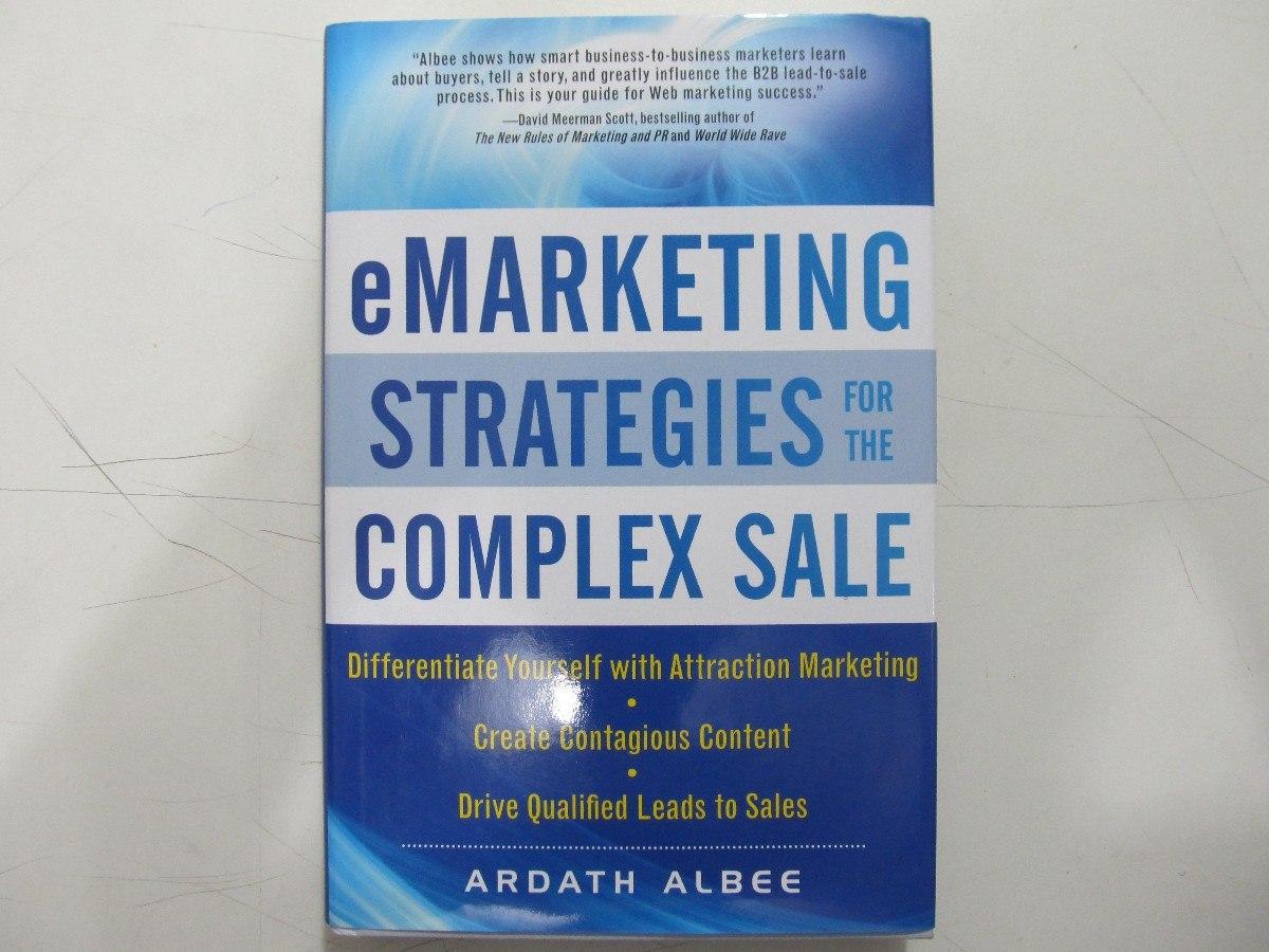 Emarketing Strategies For The Complex Sale - Livro Em Inglês - R$ 50,00 em  Mercado Livre