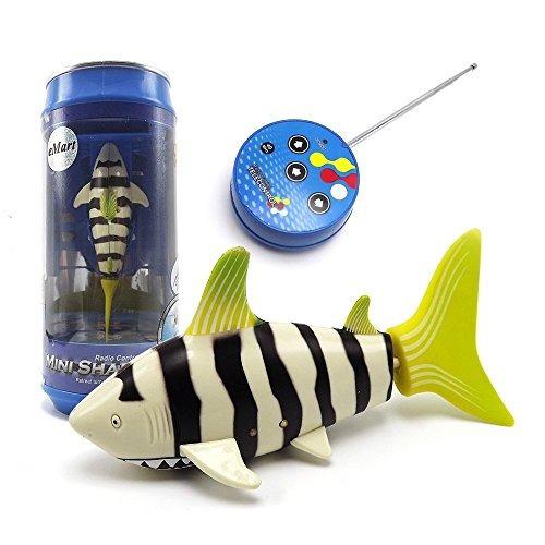 emart mini rc fish shark swim el juguete teledirigido agua b