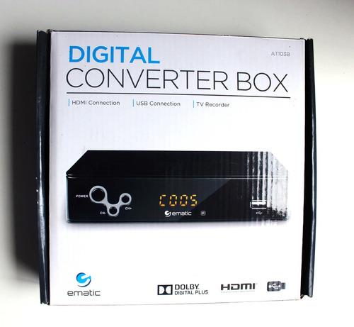 ematic at103b caja convertidora digital con grabadora y repr