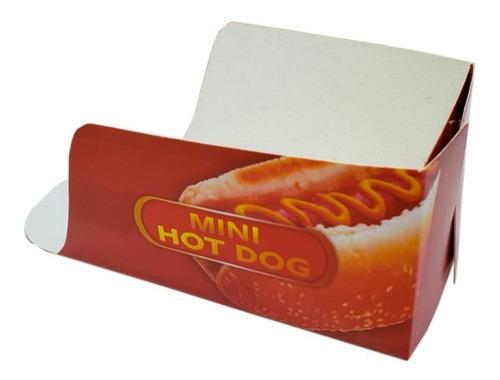 embalagem caixa caixinha mini hot dog (cachorro quente 1000u