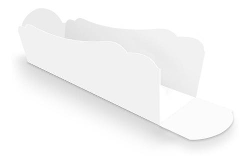 embalagem, caixa, caixinha p/ hot dog 25cm branca - 100 unid