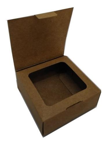 embalagem caixa caixinha presente bijuteria 7x7x3 100 kraft