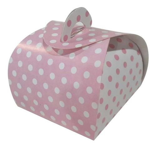 embalagem caixa caixinhas bem casado bolinhas rosas 100 pçs