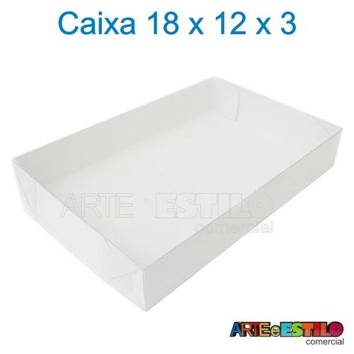 embalagem com 100 caixas de acetato 18x12x3 cm