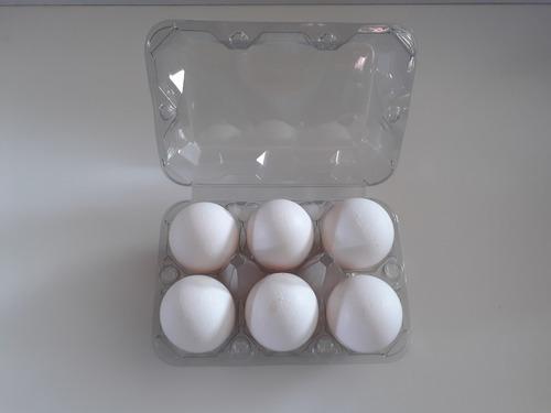 embalagem p/ 06 ovos de galinha 200 unid