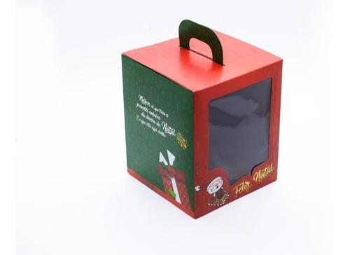 embalagem para panetone 500grs  natal - pct c/10 unidades.