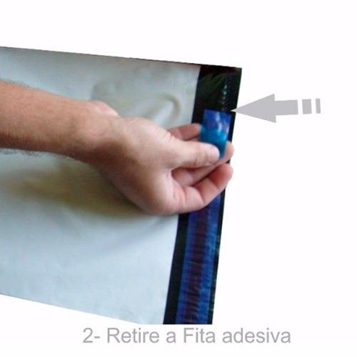 embalagem plastica c/ lacre tipo sedex  32 x 40 100 unidades