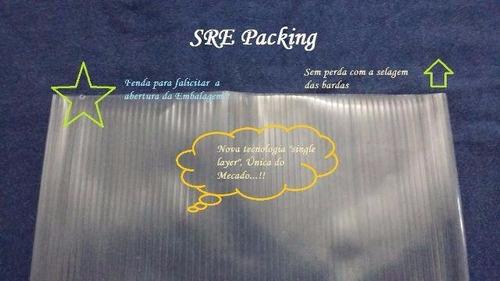 embalagem ranhurada vácuo saco 14x20 c/ 100 unidades