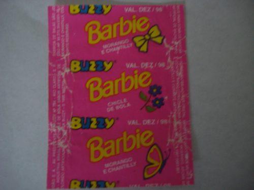 embalagens chicletes sonrics buzzy barbie raríssimas!!!