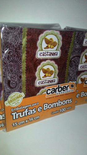 embalagens para trufas sabor castanha preço é de cada kit!!!