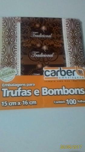 embalagens/papel pra trufas e bombom 10 pacotes c/100un cada