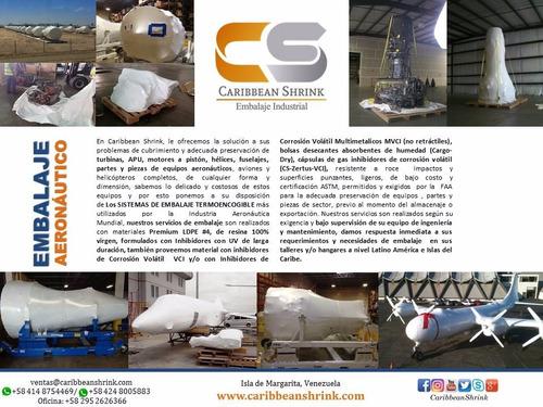 embalaje aeronautico termoencogible,shrink wrap latinamerica