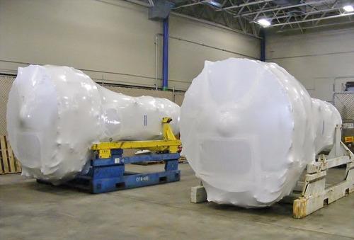 embalaje industrial aeronáutico, embalaje termoencogible