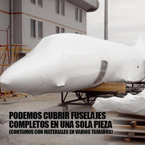 embalaje industrial aeronáutico, film termoencogible