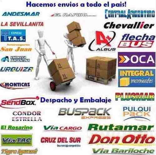 embalaje,envio y despacho a transporte y terminal de liniers