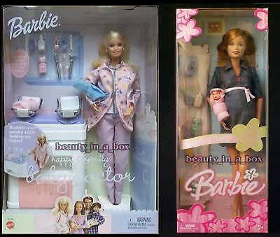 embarazada midge barbie doll & baby bump happy family docto