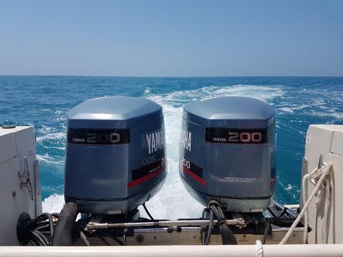 embarcacion mako 25' modelo 2005 2 motores yamaha 200hp c/u