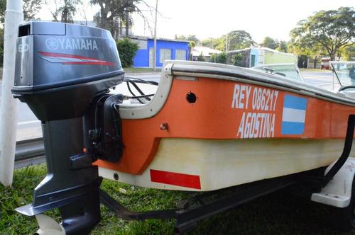 embarcacion trakker 620 con motor yamaha 60hp 2t