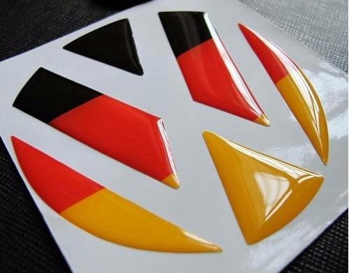 embellecedor de porton trasero 3d bandera alemana vw amarok