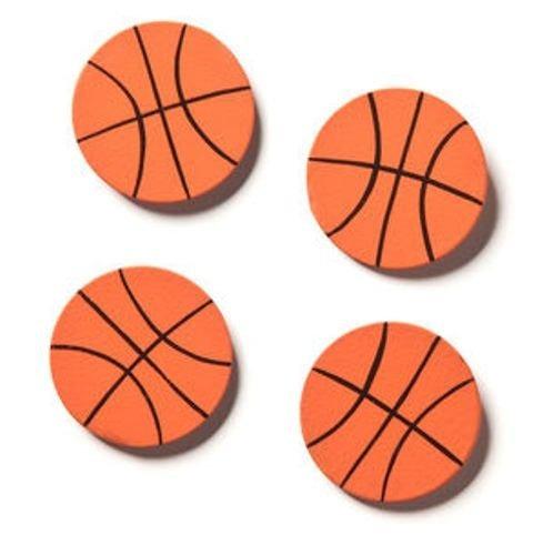 embellecer sus historia baloncesto imanes - juego de 4 -
