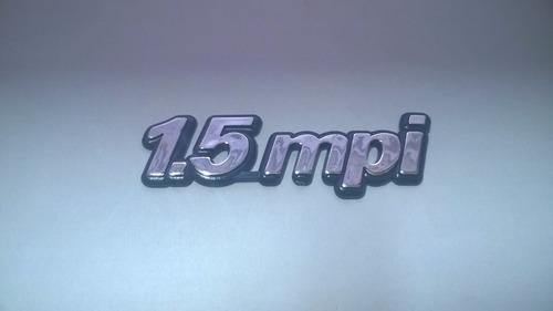 emblem cromado c/ fundo azul 1.5 mpi p/ palio 96/01 - bre