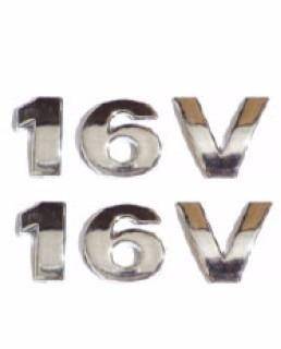emblema 16v 2 unidades + brinde pequeno gol frete grátis